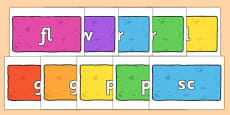 Initial Letter Blends on Bricks (Multicolour)