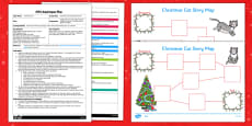 Christmas Cat Story Map Activity EYFS Adult Input Plan and Resource Pack