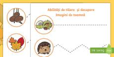 Abilități de tăiere și decupare -  imagini de toamnă
