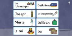 Nativity Topic Words French