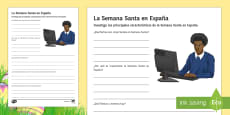 Easter In Spain Project Writing Frames Spanish