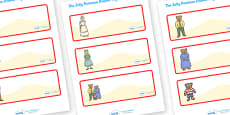 Editable Drawer Peg Name Labels to Support Teaching on The Jolly Postman