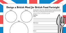 British Food Fortnight Design a Meal
