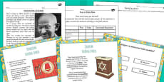 Right and Wrong Buddhist, Jewish and Hindu Beliefs Lesson Teaching Pack