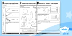 Measure and Record Length and Height Home Learning Tasks