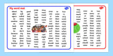 Australian Football League Themed KS1 Word Mats