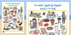 Summer Themed I Spy With My Little Eye Activity Cymraeg
