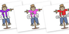 Tricky Words on Scarecrows