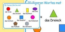 2D Shape Word Mat German