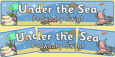 Under the Sea Banner Polish Translation