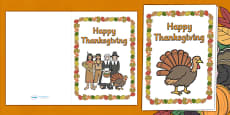 Thanksgiving Greeting Card Templates