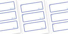 Bluebells Themed Editable Drawer-Peg-Name Labels (Blank)