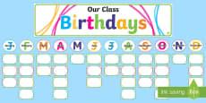Crayon Theme Birthday Display Cut-Outs