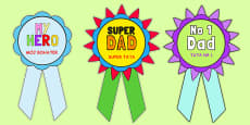 Father's Day Printable Badges Polish Translation