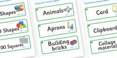 Jade Themed Editable Classroom Resource Labels