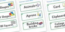 Jade Themed Editable Classroom Resource Labels