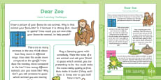 * NEW * Home Learning Challenges Nursery FS1 to Support Teaching on Dear Zoo