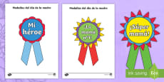 Mother's Day Printable Badges - Spanish