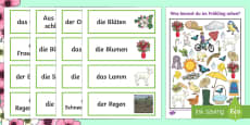 Spring Themed I Spy Activity Sheet German