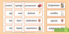 Rosh Hashanah Word Cards