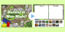 Natural or Man Made Materials Sorting Activity PowerPoint