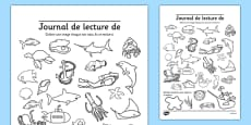 Under the Sea Themed Reading Log French