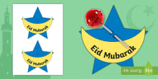 Eid Lollipop Gift Activity