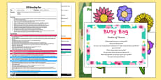 Garden of Flowers EYFS Busy Bag Plan and Resource Pack