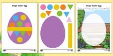 * NEW * Easter Egg 2D Shape Activity Sheets