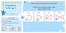Programming Turtle Logo Writing Algorithms PowerPoint Lesson 3 - Australia