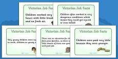 The Victorians Victorian Children Job Facts Poster