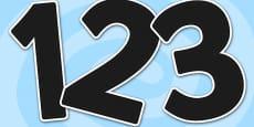A4 Black Alphabet Display Numbers