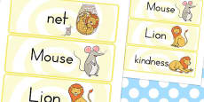Australia - The Lion and the Mouse Word Cards