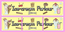Australia - Ice Cream Parlour Role Play Display Banner