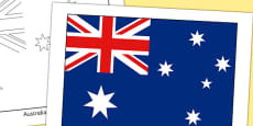 Australia Flag Display Poster