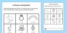 r Phonics Activity Sheet