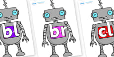Initial Letter Blends on Robots