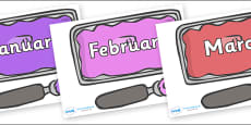 Months of the Year on Ice Cream Tubs
