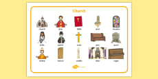 Christian Church Word Mat