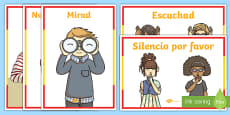 Spanish Classroom Commands Display Poster