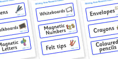 Welcome to our class - Plain Themed Editable Writing Area Resource Labels
