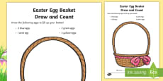 Easter Egg Drawing and Counting Activity Sheet