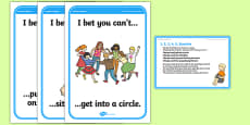 Foundation PE (Reception) I, 2, 3, 4, 5 Surprise Cool-Down Activity Card
