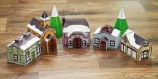 Christmas Village Display Paper Model Printable