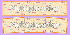 Multiplication Display Banner