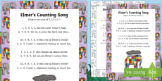 Elmer's Counting Song to Support Teaching on Elmer