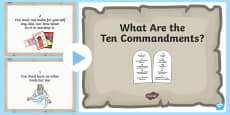 * NEW * What Are the 10 Commandments? PowerPoint