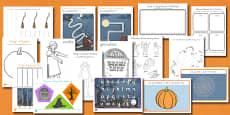 Halloween Themed Fine Motor Skills Resource Pack