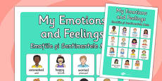 My Emotions and Feelings Vocabulary Poster Romanian Translation