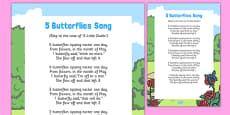 5 Butterflies Song